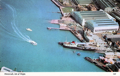 Arial view of East Cowes
